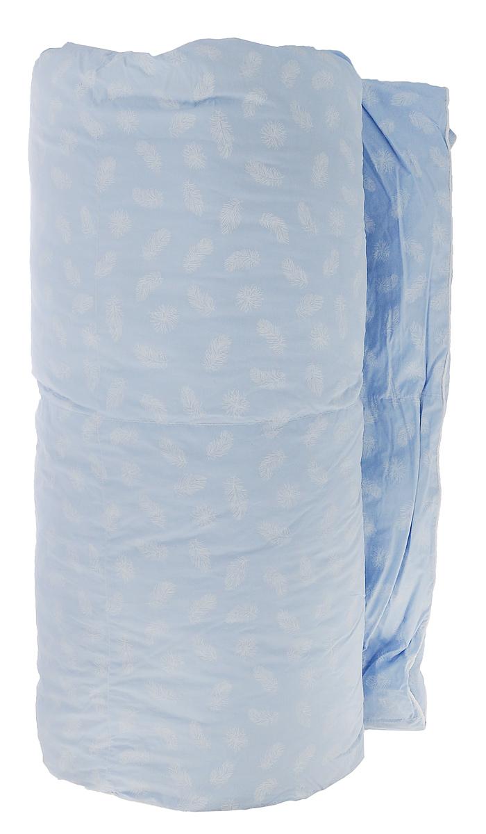 Одеяло Подушкино Сонюшка, наполнитель: пух, перо, цвет: голубой, 172 см х 205 см120295101-КОдеяло Подушкино Сонюшка подарит комфортный и приятный сон. Чехол одеяла изготовлен из прочного тика и декорирован изысканным рисунком в виде белых перышек. Наполнитель полупуховый, из перьев и пуха, с тщательной обработкой, позволяющей защитить его от развития микросреды. Высокие показатели воздухонепроницаемости обеспечивают комфорт даже жаркими летними ночами. Мягкое и теплое одеяло бережно окутает вас во время сна, сделает его крепким и безмятежным. Одеяло Сонюшка - дань традициям теплого и уютного дома. Благодаря классическому пухо-перовому наполнителю и натуральному хлопковому чехлу эти одеяла давно завоевали популярность у российских хозяек. Рекомендации по уходу: - Деликатная ручная и машинная стирка при температуре 30°С. - Не гладить. - Не отбеливать. - Деликатная сушка в барабане. - Сушить горизонтально. - Сухая чистка. Материал чехла: тик (100% хлопок). Материал наполнителя: полупуховый 1...