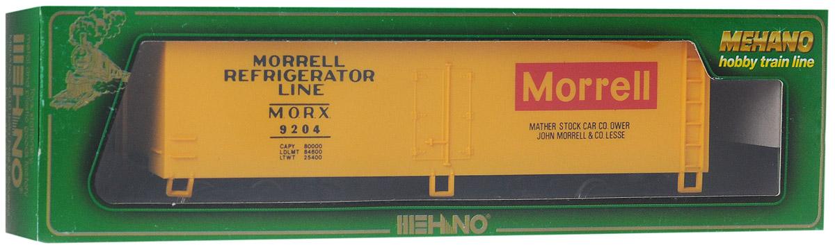 Mehano Вагон-рефрижератор MorrellT071Вагон-рефрижератор Mehano Morrell выполнен на высочайшем уровне с мелкими деталями и в точной раскраске железной дороги определенного периода времени. Корпус модели выполнен из пластика, колеса выполнены из металла. Модель высоко детализирована и окрашена в соответствии со своим реальным прототипом. В комплект также входят два пластиковых крепления, благодаря которым вы сможете соединить вагончики в железнодорожный состав. Коллекционная модель станет не только интересной игрушкой для ребенка, интересующегося поездами, но и займет достойное место в любой коллекции. Модель совместима с железными дорогами Mehano. Оставаясь одной из наиболее желанных игрушек для большинства мальчишек и даже взрослых коллекционеров, железная дорога Mehano с дистанционным управлением неподвластна влиянию моды и времени. Для сторонников технологических новинок создаются модели современных скоростных составов, а ценители истории могут выбрать подходящий комплект, в точности воссоздающий...