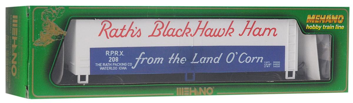 Mehano Вагон-рефрижератор Raths Black Hawk HamT071Вагон-рефрижератор Mehano Raths Black Hawk Ham выполнен на высочайшем уровне с мелкими деталями и в точной раскраске железной дороги определенного периода времени. Корпус модели выполнен из пластика, колеса выполнены из металла. Модель высоко детализирована и окрашена в соответствии со своим реальным прототипом. Коллекционная модель станет не только интересной игрушкой для ребенка, интересующегося поездами, но и займет достойное место в любой коллекции. Модель совместима с железными дорогами Mehano. Оставаясь одной из наиболее желанных игрушек для большинства мальчишек и даже взрослых коллекционеров, железная дорога Mehano с дистанционным управлением неподвластна влиянию моды и времени. Для сторонников технологических новинок создаются модели современных скоростных составов, а ценители истории могут выбрать подходящий комплект, в точности воссоздающий легендарные локомотивы и вагоны прошлых лет. Наряду с уникальными локомотивами, железнодорожные подвижные...