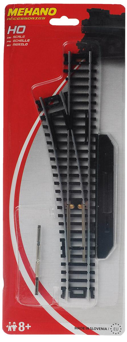Mehano Стрелка левая механическаяF282Левая стрелка для железнодорожного полотна Mehano позволит вам проявить фантазию и создать свой собственный, неповторимый железнодорожный трек. Стрелка выполнена из высококачественного прочного пластика и никеля в масштабе 1:87, она подходит для железной дороги с шириной колеи 16,5 мм. Такая железная дорога будет совместима со всеми поездами и вагонами Mehano в масштабе 1:87, а также с другими элементами железнодорожных треков. Стрелка снабжена ручным механизмом переключения. Дополнительный элемент для железнодорожного полотна Mehano станет незаменимым аксессуаром для вашей миниатюрной железной дороги.