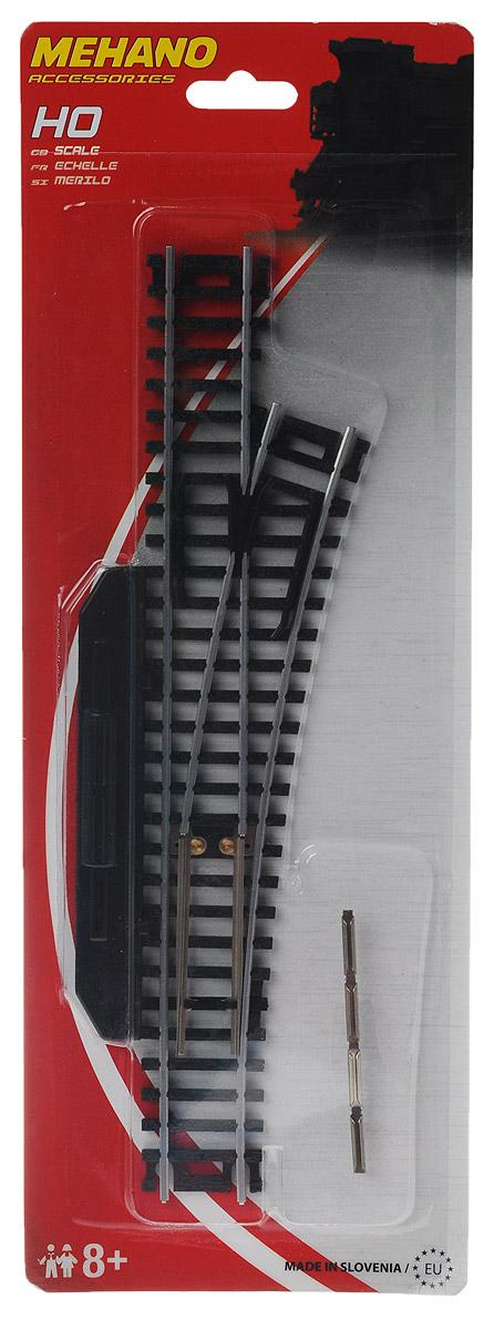Mehano Стрелка правая механическаяF283Правая стрелка для железнодорожного полотна Mehano позволит вам проявить фантазию и создать свой собственный, неповторимый железнодорожный трек. Стрелка выполнена из высококачественного прочного пластика и никеля в масштабе 1:87, она подходит для железной дороги с шириной колеи 16,5 мм. Такая железная дорога будет совместима со всеми поездами и вагонами Mehano в масштабе 1:87, а также с другими элементами железнодорожных треков. Стрелка снабжена ручным механизмом переключения. Дополнительный элемент для железнодорожного полотна Mehano станет незаменимым аксессуаром для вашей миниатюрной железной дороги.