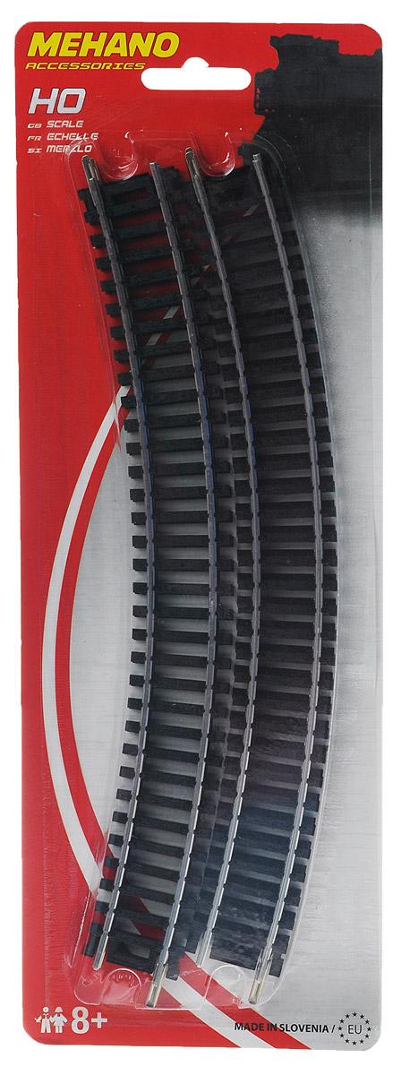 Mehano Радиальные рельсы 4 штF210Радиальные рельсы для железнодорожного полотна Mehano позволят вам проявить фантазию и создать свой собственный, неповторимый железнодорожный трек. Радиальные рельсы выполнены из высококачественного прочного пластика и никеля в масштабе 1:87, они подходят для железной дороги с шириной колеи 16,5 мм. В комплект входят 4 элемента радиальных рельс. Такая железная дорога будет совместима со всеми поездами и вагонами Mehano в масштабе 1:87, а также с другими элементами железнодорожных треков. Дополнительные элементы для железнодорожного полотна Mehano станут незаменимыми аксессуарами для вашей миниатюрной железной дороги.