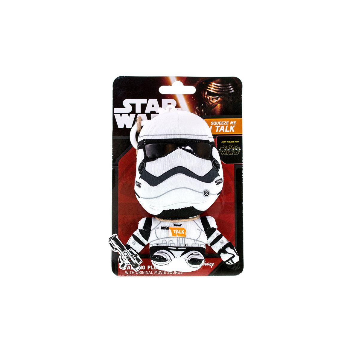 Star Wars Мягкая игрушка-брелок ШтурмовикSW01902Мягкая игрушка-брелок Star Wars Штурмовик - милый и стильный аксессуар, который придется по душе поклонникам космической саги Звездные войны. Брелок можно повесить на связку ключей или рюкзак. Внутрь игрушки встроено электронное устройство, воспроизводящее звуки героя из фильма. Игрушка выполнена из материалов высокого качества, набивка - гипоаллергенный синтепон. Работает от незаменяемых батареек.