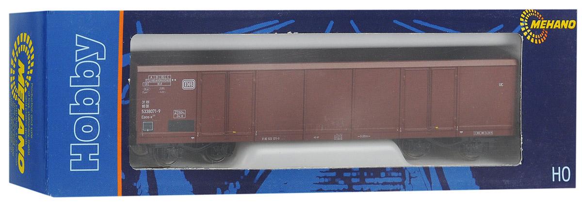 Mehano Грузовой вагон EAOS-DB-106T630Грузовой вагон Mehano EAOS-DB-106 533 8 071-9-DC выполнен на высочайшем уровне с мелкими деталями и в точной раскраске железной дороги определенного периода времени. Корпус модели вагона для перевозки грузов выполнен из пластика, колеса выполнены из металла. Модель высоко детализирована и окрашена в соответствии со своим реальным прототипом. Вагон имеет два пластиковых крепления, благодаря которым вы сможете соединить вагончики в железнодорожный состав. Коллекционная модель станет не только интересной игрушкой для ребенка, интересующегося поездами, но и займет достойное место в любой коллекции. Модель совместима с железными дорогами и поездами Mehano. Оставаясь одной из наиболее желанных игрушек для большинства мальчишек и даже взрослых коллекционеров, железная дорога Mehano неподвластна влиянию моды и времени. Для сторонников технологических новинок создаются модели современных скоростных составов, а ценители истории могут выбрать подходящий комплект, в точности...