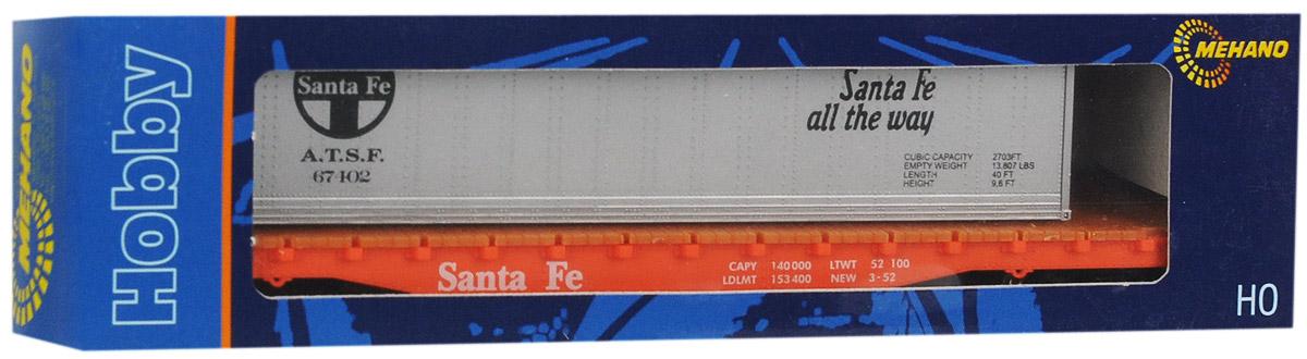 Mehano Вагон-платформа AT&SF-EUT115Вагон-платформа Mehano AT&SF-EU со съемным контейнером выполнен на высочайшем уровне с мелкими деталями и в точной раскраске железной дороги определенного периода времени. Корпус модели грузовой платформы выполнен из пластика, колеса выполнены из металла. Съемный вагон фиксируется на платформе при помощи пластиковых креплений. Модель высоко детализирована и окрашена в соответствии со своим реальным прототипом. Вагон имеет два пластиковых крепления, благодаря которым вы сможете соединить вагончики в железнодорожный состав. Коллекционная модель станет не только интересной игрушкой для ребенка, интересующегося поездами, но и займет достойное место в любой коллекции. Модель совместима с железными дорогами и поездами Mehano. Оставаясь одной из наиболее желанных игрушек для большинства мальчишек и даже взрослых коллекционеров, железная дорога Mehano неподвластна влиянию моды и времени. Для сторонников технологических новинок создаются модели современных скоростных...