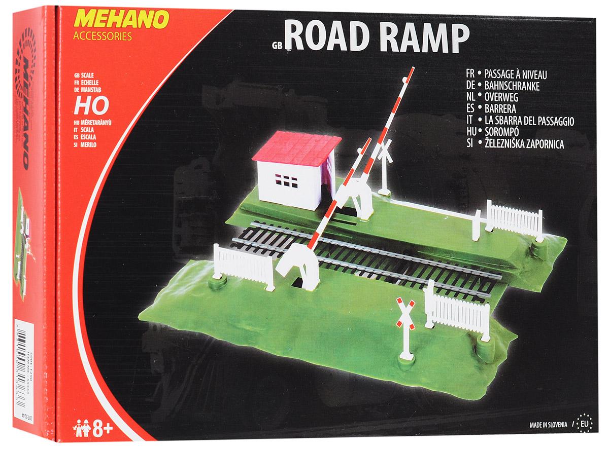 Mehano Железнодорожный переезд со шлагбаумомF290Железнодорожный переезд со шлагбаумом Mehano позволит вам проявить фантазию и дополнить свою железную дорогу небольшим железнодорожным переездом со шлагбаумом. Переезд со шлагбаумом выполнен из высококачественного прочного пластика в масштабе 1:87, он подходит для железной дороги с шириной колеи 16,5 мм. Шлагбаумы размещены на пластиковой платформе, переезд оформлен небольшими ограждениями и предупредительными знаками, а также кабинкой смотрителя. В комплект также входит комплект стикеров для оформления шлагбаума и знаков. Шлагбаумы опускаются механически, при помощи небольшого рычажка на платформе. Переезд совместим со всеми поездами и вагонами Mehano в масштабе 1:87, а также с другими элементами железнодорожных треков компании Mehano. Дополнительные элементы для железнодорожного трека Mehano станет незаменимым аксессуаром для вашей миниатюрной железной дороги. Играя с этим набором, юный машинист сможет строить новые станции, придумывать неповторимый, свой собственный...