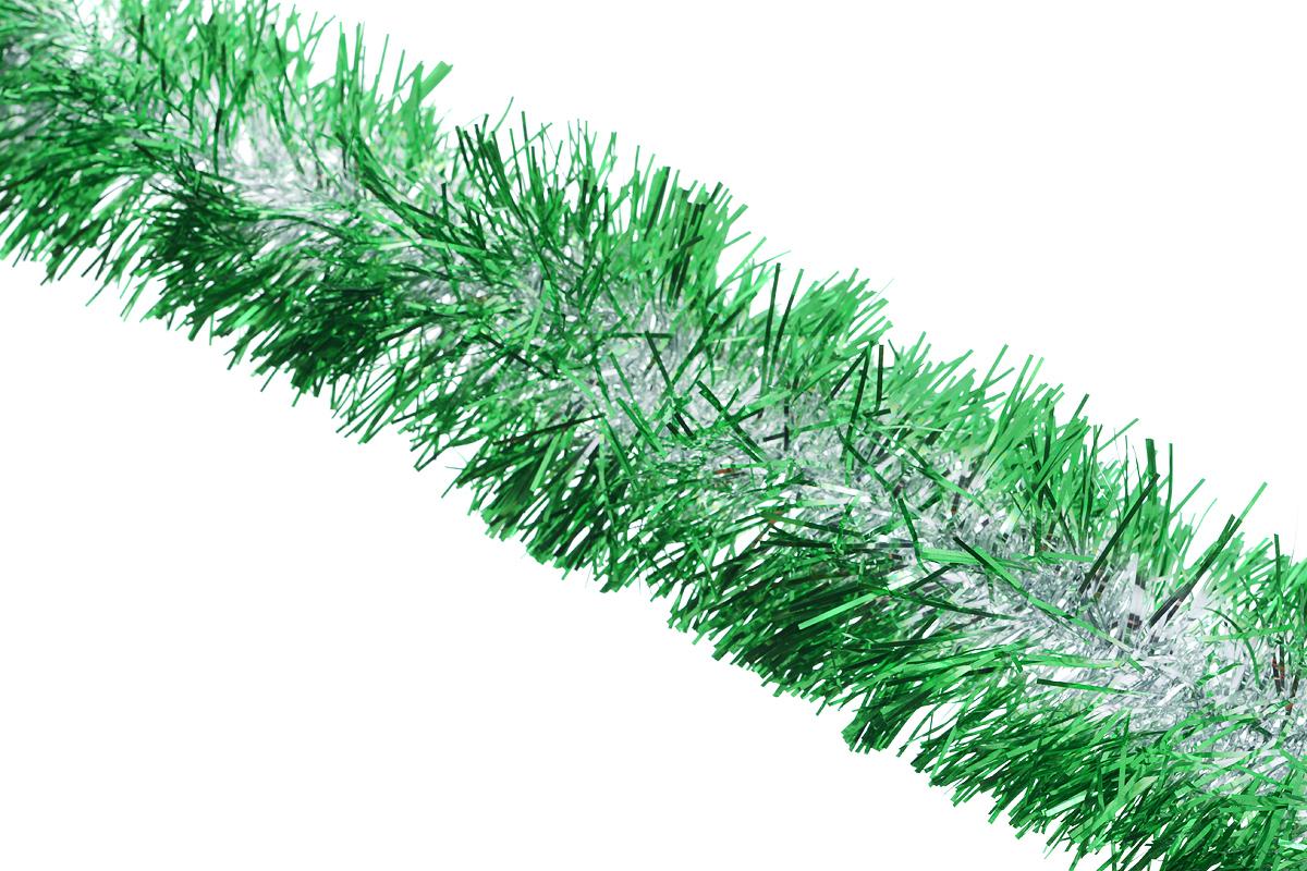 Мишура новогодняя Sima-land, цвет: зеленый, серебристый, диаметр 10 см, длина 200 см. 702583702583_зеленыйДвухцветная новогодняя мишура Sima-land, выполненная из фольги, поможет вам украсить свой дом к предстоящим праздникам. А новогодняя елка с таким украшением станет еще наряднее. Мишура армирована, то есть имеет проволоку внутри и способна сохранять приданную ей форму. Новогодней мишурой можно украсить все, что угодно - елку, квартиру, дачу, офис - как внутри, так и снаружи. Можно сложить новогодние поздравления, буквы и цифры, мишурой можно украсить и дополнить гирлянды, можно выделить дверные колонны, оплести дверные проемы. Коллекция декоративных украшений из серии Зимнее волшебство принесет в ваш дом ни с чем несравнимое ощущение праздника! Создайте в своем доме атмосферу тепла, веселья и радости, украшая его всей семьей.