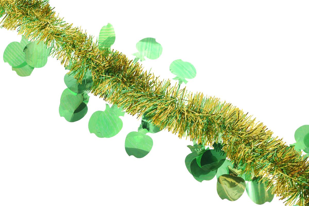 Мишура новогодняя Феникс-презент Magic Time, цвет: зеленый, желтый, диаметр 6 см, длина 200 см. 2697326973_зеленый, желтыйНовогодняя мишура Феникс-презент Magic Time, выполненная из ПВХ, поможет вам украсить свой дом к предстоящим праздникам. А новогодняя елка с таким украшением станет еще наряднее. Мишура армирована, то есть имеет проволоку внутри и способна сохранять придаваемую ей форму. Новогодней мишурой можно украсить все, что угодно - елку, квартиру, дачу, офис - как внутри, так и снаружи. Можно сложить новогодние поздравления, буквы и цифры, мишурой можно украсить и дополнить гирлянды, можно выделить дверные колонны, оплести дверные проемы. Коллекция декоративных украшений из серии Magic Time принесет в ваш дом ни с чем не сравнимое ощущение праздника! Создайте в своем доме атмосферу тепла, веселья и радости, украшая его всей семьей.