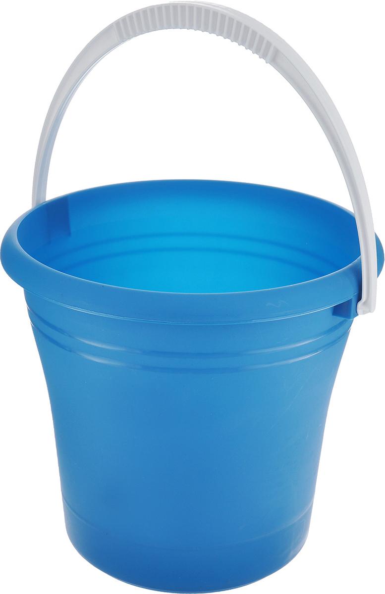 Ведро Альтернатива, цвет: синий, 9 лМ685_ синийВедро Альтернатива изготовлено из высококачественного одноцветного пластика. Оно легче железного и не подвержено коррозии. Ведро оснащено удобной пластиковой ручкой. Такое ведро станет незаменимым помощником в хозяйстве. Диаметр (по верхнему краю): 27 см. Высота ведра: 25 см.