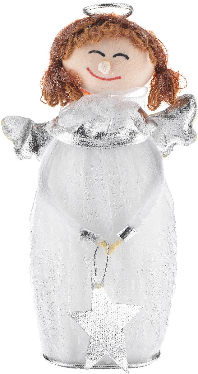 Новогодняя декоративная фигурка Sima-land Девочка-ангел, высота 21 см686014Новогодняя декоративная фигурка Sima-land Девочка-ангел прекрасно подойдет для праздничного декора вашего дома. Сувенир, изготовленный из пенопласта в виде ангела, декорирован блестками. Такая оригинальная фигурка оформит интерьер вашего дома или офиса в преддверии Нового года. Оригинальный дизайн и красочное исполнение создадут праздничное настроение. Кроме того, это отличный вариант подарка для ваших близких и друзей.
