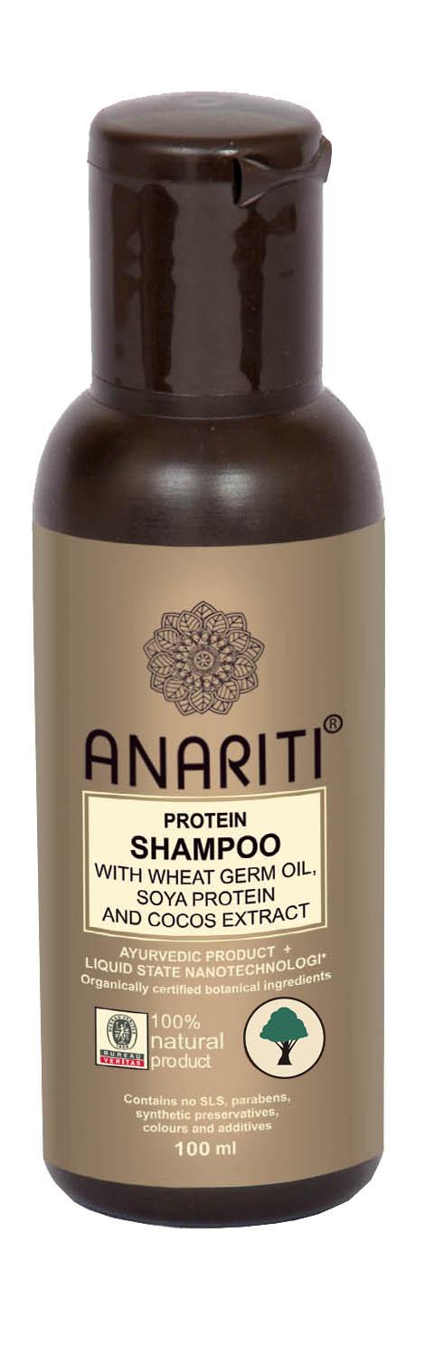 Anariti шампунь протеиновый с маслом зародышей пшеницы, протеинами сои и экстрактом кокоса, 100 г19010Рекомендуется для ухода за сухими, безжизненными и поврежденными волосами, в том числе волосами с секущимися концами. Бережно очищает волосы и кожу головы, питает и восстанавливает их гидролипидный баланс. Микро-протеины пшеницы проникают вглубь сердцевины волоса, питая волосяные стержни. Протеины сои и молока обеспечивают регенерацию кортекса и кутикулы. Шампунь придает волосам мягкость, объем, здоровый блеск и эластичность.