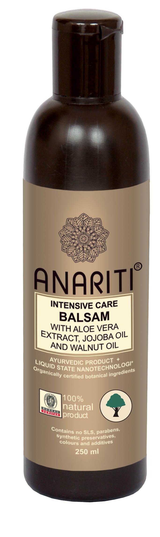 Anariti бальзам-кондиционер интенсивно увлажняющий с экстрактом алоэ вера, маслом жожоба и маслом грецкого ореха,250 г
