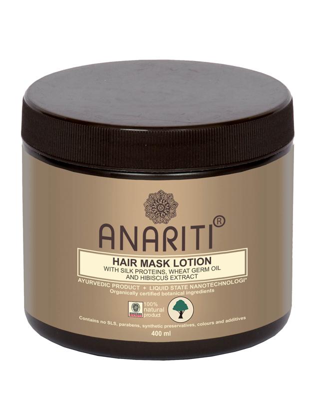 Anariti маска - лосьон для волос с протеинами шелка, маслом зародышей пшеницы и экстрактом гибискуса,400 г19016Рекомендуется для восстановления сухих и поврежденных волос, в том числе волос с секущимися концами. Протеины шелка восстанавливают поврежденные кератиновые структуры в глубине и на поверхности волоса. Масло стимулирует регенерацию и запускает механизмы обновления кожи головы и волос на клеточном уровне. Волосы приобретают здоровый блеск, эластичность, гладкость и шелковистость.