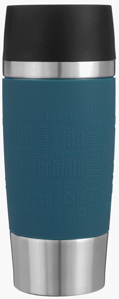 Термокружка Emsa Travel Mug, цвет: темно-синий, стальной, 0,36 л513357Термокружка Emsa Travel Mug - это идеальный попутчик в дороге - не важно, по пути ли на работу, в школу или во время похода по магазинам. Вакуумная кружка на 100% герметична. Кружка имеет двустенную вакуумную колбу из нержавеющей стали, благодаря чему температура жидкости сохраняется долгое время. Кружку удобно держать благодаря покрытию Soft Touch из силикона. Изделие открывается нажатием кнопки. Пробка разбирается и превосходно моется. Дно кружки выполнено из силикона, что препятствует скольжению. Диаметр кружки по верхнему краю: 8 см. Диаметр дна кружки: 6,5 см. Высота кружки: 20,5 см. Сохранение холодной температуры: 8 ч. Сохранение горячей температуры: 4 ч.