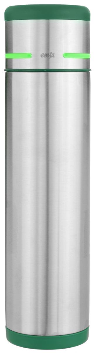Термос Emsa Mobility, цвет: зеленый, стальной, 1 л512961Простая и гармоничная форма термоса Emsa Mobility, выполненного из стали, удовлетворит желания любого потребителя. Термос оснащен герметичным клапаном и крышкой, которую можно использовать в качестве стакана, а благодаря системе высококачественной вакуумной изоляции он сохранит ваши напитки горячими или холодными надолго. Диаметр горлышка термоса: 5 см. Диаметр дна термоса: 8 см. Высота термоса (с учетом крышки): 32 см. Сохранение холодной температуры: 24 ч. Сохранение горячей температуры: 12 ч.