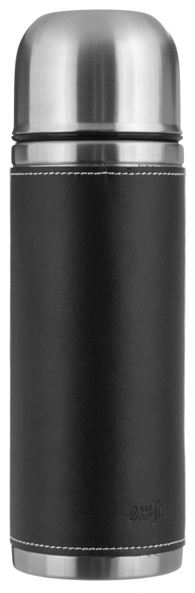 Термос Emsa Senator Class, цвет: черный, 0,5 л502433Простая и гармоничная форма термоса Emsa Senator Class, выполненного из стали, удовлетворит желания любого потребителя. Внешняя сторона изделия одета в кожаный чехол, что позволяет надежно держать его в руках. Термос оснащен герметичным клапаном и крышкой, которую можно использовать в качестве стакана, а благодаря системе высококачественной вакуумной изоляции он сохранит ваши напитки горячими или холодными надолго. Диаметр горлышка термоса: 5 см. Диаметр дна термоса: 7 см. Высота термоса (с учетом крышки): 23,5 см. Сохранение холодной температуры: 24 ч. Сохранение горячей температуры: 12 ч.