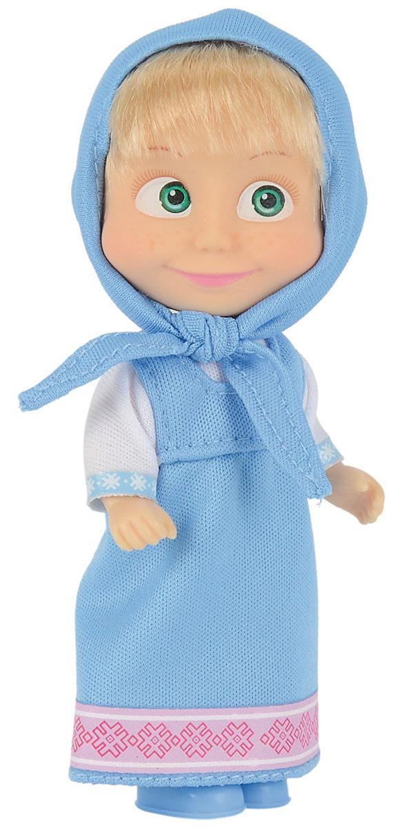 Simba Мини-кукла Маша в голубом сарафане9301678_1Мини-кукла Маша непременно понравится вашей малышке и надолго займет ее внимание. Игрушка выполнена из безопасного материала в виде персонажа Маши из мультсериала Маша и Медведь. Кукла, одетая в сарафан и с косынкой на голове, отлично передает задорный характер этой популярной героини мультфильма Маша и медведь. Маша в голубом сарафане и косынке выглядит довольно необычно. Этот сарафан Маша надевает, когда чувствует особенную легкость и радость на душе. Ведь собирать васильки в лесу или любоваться на бегущие в небе облака в наряде небесного цвета особенно хорошо. Ручки, ножки и голова у Маши подвижны. У куколки зеленые глаза и загадочная улыбка, а из-под косынки выглядывает непослушная челка. Оригинальный стиль и великолепное качество исполнения делают эту игрушку чудесным подарком к любому празднику, а жизнерадостный образ представит такой подарок в самом лучшем свете.