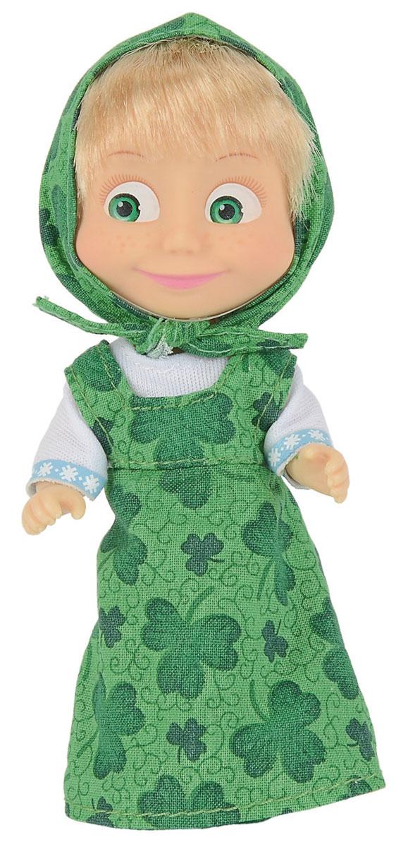 Simba Мини-кукла Маша в зеленом сарафане9301678_2Мини-кукла Маша непременно понравится вашей малышке и надолго займет ее внимание. Игрушка выполнена из безопасного материала в виде персонажа Маши из мультсериала Маша и Медведь. Кукла, одетая в сарафан и с косынкой на голове отлично передает задорный характер этой популярной героини мультфильма Маша и медведь. Зеленый сарафан с бабочками великолепно сидит на кукле Маше, особенно хорошо подчеркивая ее веселый нрав. Косынка на ее голове сшита из такой же ткани, как и платье. В таком наряде Маше особенно приятно прогуляться по лесу, или поиграть в прятки с зайками. Ручки, ножки и голова у Маши подвижны. У куколки зеленые глаза и загадочная улыбка, а из-под косынки выглядывает непослушная челка. Оригинальный стиль и великолепное качество исполнения делают эту игрушку чудесным подарком к любому празднику, а жизнерадостный образ представит такой подарок в самом лучшем свете.