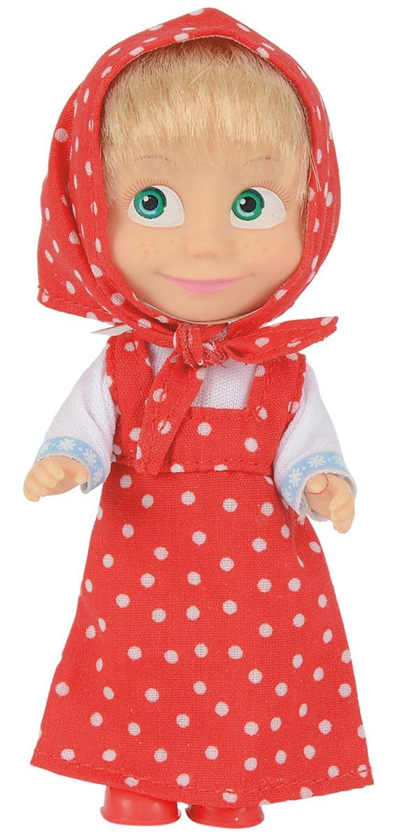 Simba Мини-кукла Маша в красном сарафане9301678Мини-кукла Маша непременно понравится вашей малышке и надолго займет ее внимание. Игрушка выполнена из безопасного материала в виде персонажа Маши из мультсериала Маша и Медведь. Кукла, одетая в сарафан и с косынкой на голове отлично передает задорный характер этой популярной героини мультфильма Маша и медведь. Маша в красном сарафане в горошек будто бы сошла с иллюстрации русской народной сказки. В таком наряде можно будет гулять среди берез или, например, сходить по грибы. Главное, не насобирать мухоморов! Ручки, ножки и голова у Маши подвижны. У куколки зеленые глаза и загадочная улыбка, а из-под косынки выглядывает непослушная челка. Оригинальный стиль и великолепное качество исполнения делают эту игрушку чудесным подарком к любому празднику, а жизнерадостный образ представит такой подарок в самом лучшем свете.