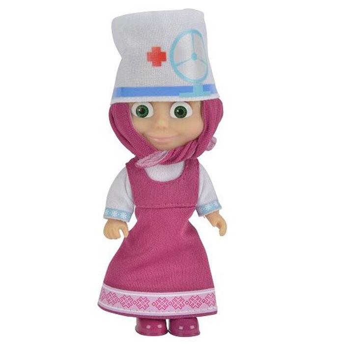 Simba Маша и Медведь Мини-кукла Маша Врач9301680_3Мини-кукла Маша непременно понравится вашей малышке и надолго займет ее внимание. Игрушка выполнена из безопасного материала в виде персонажа Маши из мультсериала Маша и Медведь. Маша любит примерять на себя роль доктора, с удовольствием диагностируя у медведя и других лесных жителей разные болезни, а потом назначая лечение. В этом образе ей потребуется специальная врачебная шапочка, которая сразу же дает понять, кто в этом лесу главный по болячкам. Ручки, ножки и голова у Маши подвижны. У куколки зеленые глаза и загадочная улыбка, а из-под косынки выглядывает непослушная челка. Оригинальный стиль и великолепное качество исполнения делают эту игрушку чудесным подарком к любому празднику, а жизнерадостный образ представит такой подарок в самом лучшем свете.