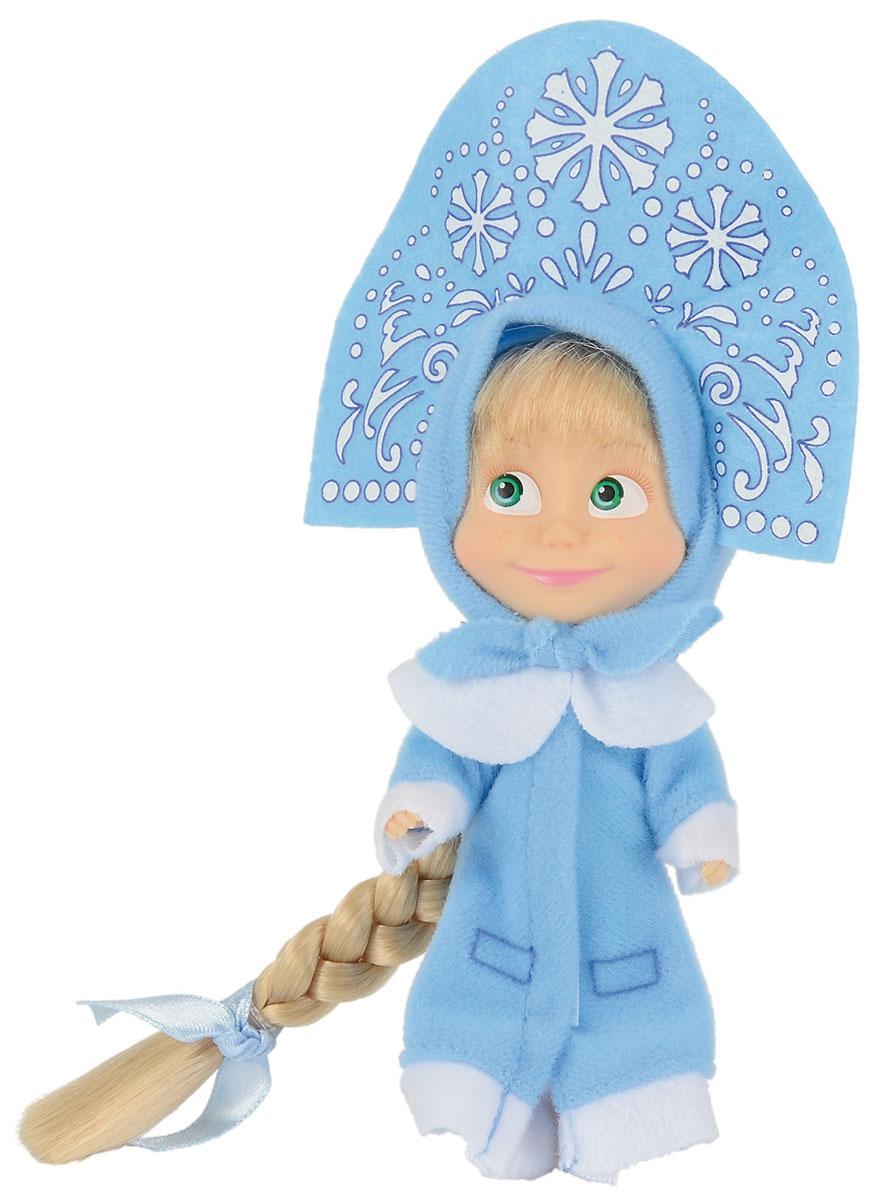 Simba Маша и Медведь Мини-кукла Маша Снегурочка9301680Мини-кукла Маша непременно понравится вашей малышке и надолго займет ее внимание. Игрушка выполнена из безопасного материала в виде персонажа Маши из мультсериала Маша и Медведь. На время новогодних праздников любимица всех детей Маша с удовольствием наряжается в Снегурочку. Еще бы, ведь ей очень идет высокий голубой кокошник, изукрашенный снежинками. Он отлично подходит к ее новой зимней шубке голубого цвета с белыми вставками. Ручки, ножки и голова у Маши подвижны. У куколки зеленые глаза и загадочная улыбка, а из-под кокошника выглядывает непослушная челка и огромная светлая коса. Оригинальный стиль и великолепное качество исполнения делают эту игрушку чудесным подарком к любому празднику, а жизнерадостный образ представит такой подарок в самом лучшем свете.