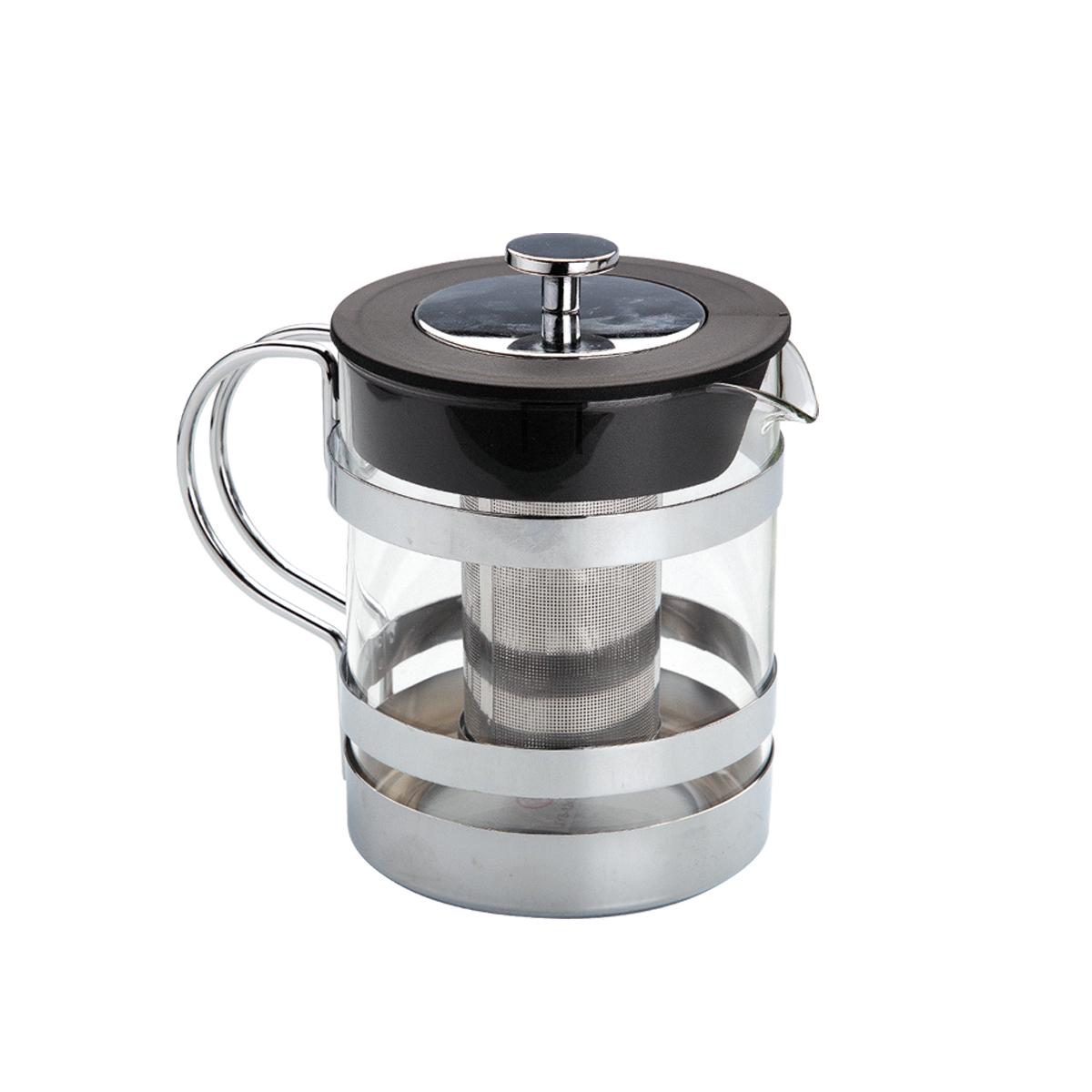 Чайник заварочный Augustin Welz, с фильтром, 1,2 лAW-2006Чайник заварочный Augustin Welz, изготовленный из закаленного стекла, предоставит вам все необходимые возможности для успешного заваривания чая. Чай в таком чайнике дольше остается горячим, а полезные и ароматические вещества полностью сохраняются в напитке. Чайник оснащен фильтром и крышкой. Фильтр выполнен из нержавеющей стали. Простой и удобный чайник поможет вам приготовить крепкий, ароматный чай. Рекомендуется ручная чистка в мыльной воде. Диаметр чайника (по верхнему краю): 11,5 см. Высота чайника (без учета крышки): 14,5 см. Высота фильтра: 9 см.