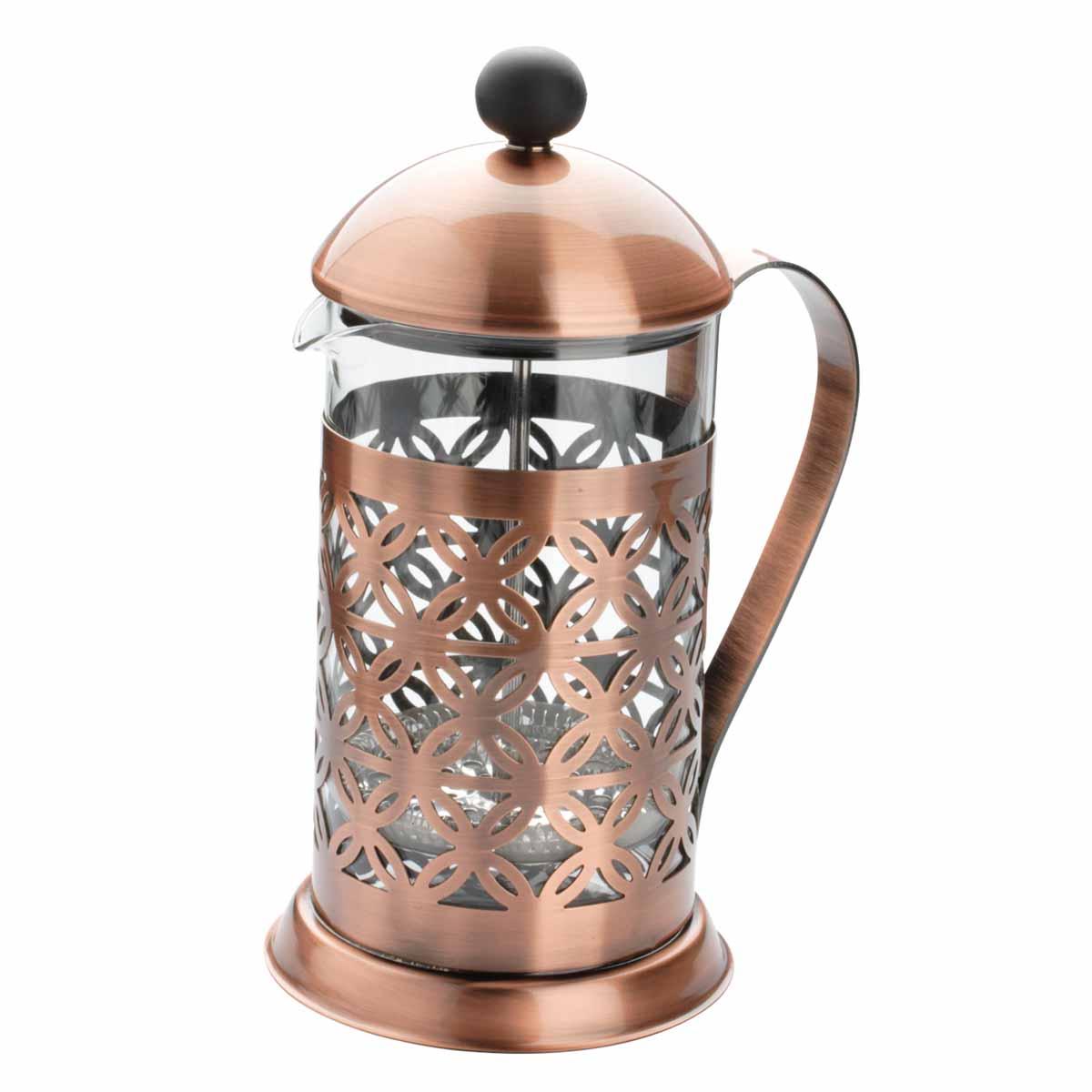 Френч-пресс Dekok Vintage, 800 мл. CP-1017CP-1017Френч-пресс Dekok Vintage легко разбирается и моется. Колба выполнена из жаропрочного стекла. Корпус, крышка и поршень изготовлены из нержавеющей стали. Конструкция носика антикапля удобна для разливания напитков в чашки. Прозрачные стенки чайника дают возможность наблюдать за насыщением напитка, а поршень позволяет с легкостью отжать заварочную гущу и получить напиток с насыщенным вкусом. Френч-пресс Dekok Vintage займет достойное место среди аксессуаров на вашей кухне. Не рекомендуется мыть в посудомоечной машине. Диаметр (по верхнему краю): 9,5 см. Высота чайника (без учета крышки): 17,5 см.