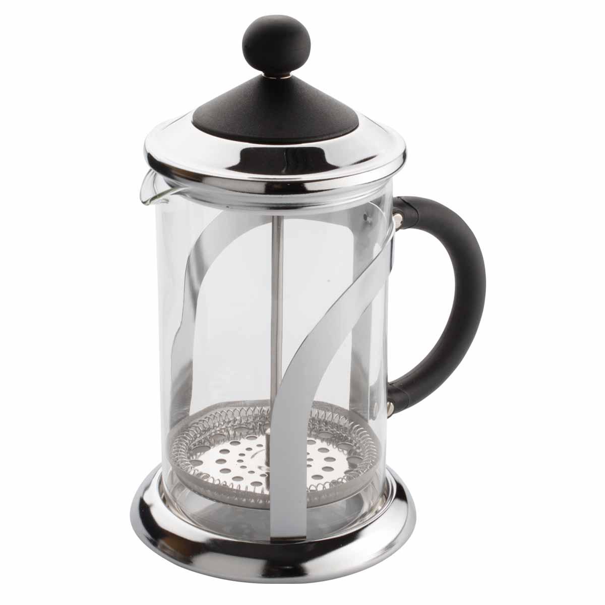 Френч-пресс Dekok, 800 мл. CP-1018CP-1018Френч-пресс Dekok представляет собой гибрид заварочного чайника и кофейника. Колба выполнена из жаропрочного стекла, корпус, крышка и поршень изготовлены из нержавеющей стали. Изделие легко разбирается и моется. Прозрачные стенки френч-пресса дают возможность наблюдать за насыщением напитка, а поршень позволяет с легкостью отжать самый сок от заварки и получить напиток с насыщенным вкусом. Конструкция носика антикапля удобна для разливания напитков в чашки. Френч-пресс Dekok займет достойное место среди аксессуаров на вашей кухне. Не рекомендуется мыть в посудомоечной машине. Диаметр (по верхнему краю): 9,5 см. Высота чайника (с крышкой): 23 см.
