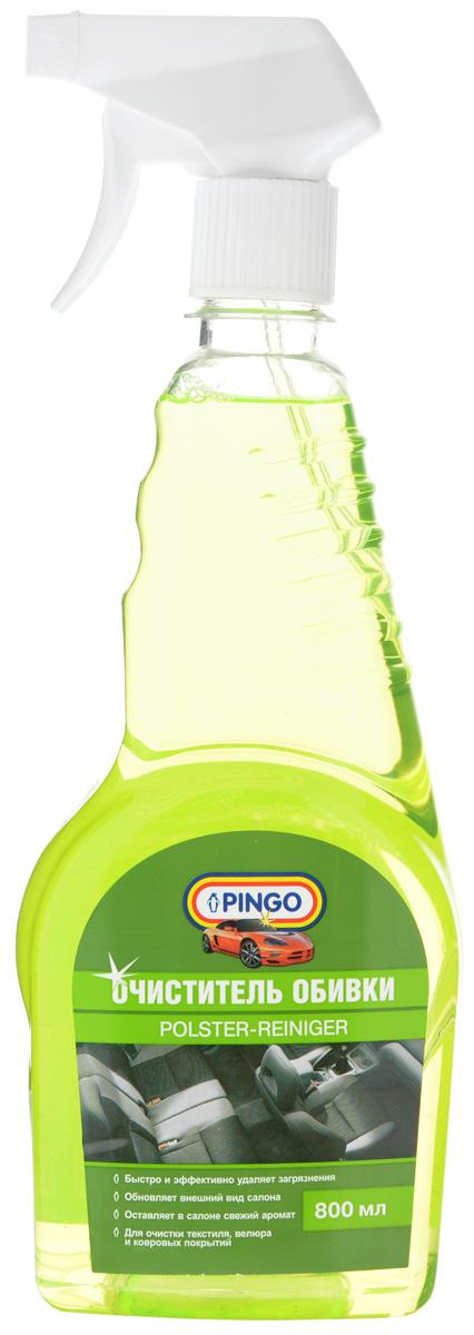 Очиститель обивки Pingo, 800 мл85033-1Очиститель обивки Pingo является профессиональным средством для текстильных, велюровых, а также ковровых покрытий в салоне автомобиля. Быстро и эффективно очищает покрытия, не оставляя следов. Обновляет внешний вид салона, устраняет неприятные запахи. Состав: деионизированная вода, комплекс активных неионогенных ПАВ менее 5%, консервант менее 5%, пропан-2-ол менее 5%, краситель менее 5%. Товар сертифицирован.