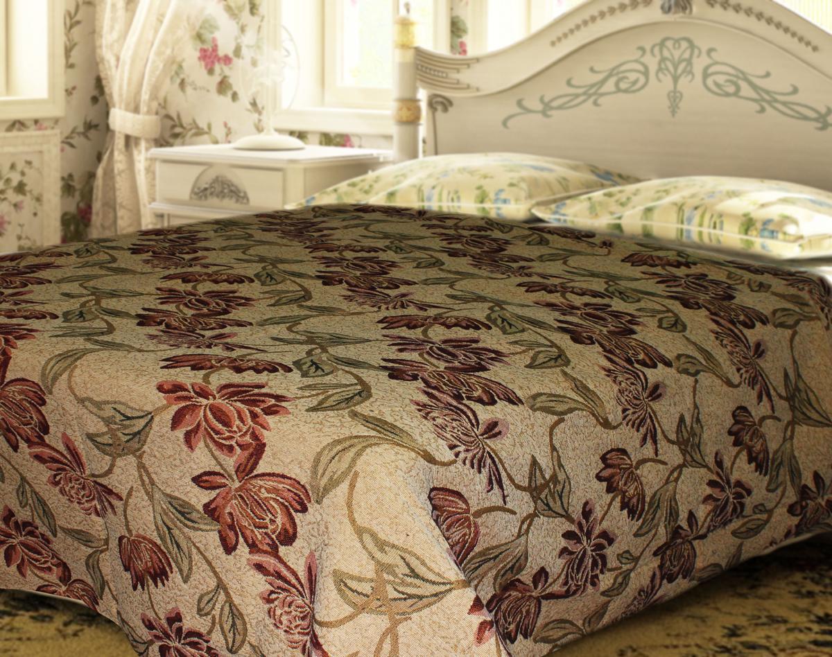 Покрывало гобеленовое Comfort Lily, цвет: бежевый, красный, желтый, 150 х 200 см70226Гобеленовое покрывало Comfort Lily изготовлено из 50% хлопка и 50% полиэстера, благодаря чему достигается приятная, дышащая фактура поверхности. Гобеленовые покрывала уникальны, так как они практичны и универсальны в использовании. Легкое, плотное, практичное покрывало - отличный спутник в дороге, дома и на даче. Оно долговечно, надежно и легко стирается.