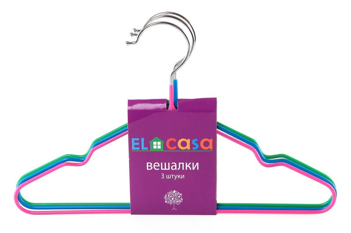 Набор детских вешалок El Casa, цвет: зеленый, розовый, голубой, 3 шт150072Набор вешалок El Casa состоит из 3 разноцветных вешалок, изготовленных из металла c антискользящим покрытием. Изделия имеют легкий и прочный каркас, закругленные края, перекладину и две выемки для юбок или маечек. Вешалка - это незаменимый аксессуар для того, чтобы одежда всегда оставалась в хорошем состоянии. Комплектация: 3 шт. Размер вешалки: 30 см х 0,4 см х 18,5 см.