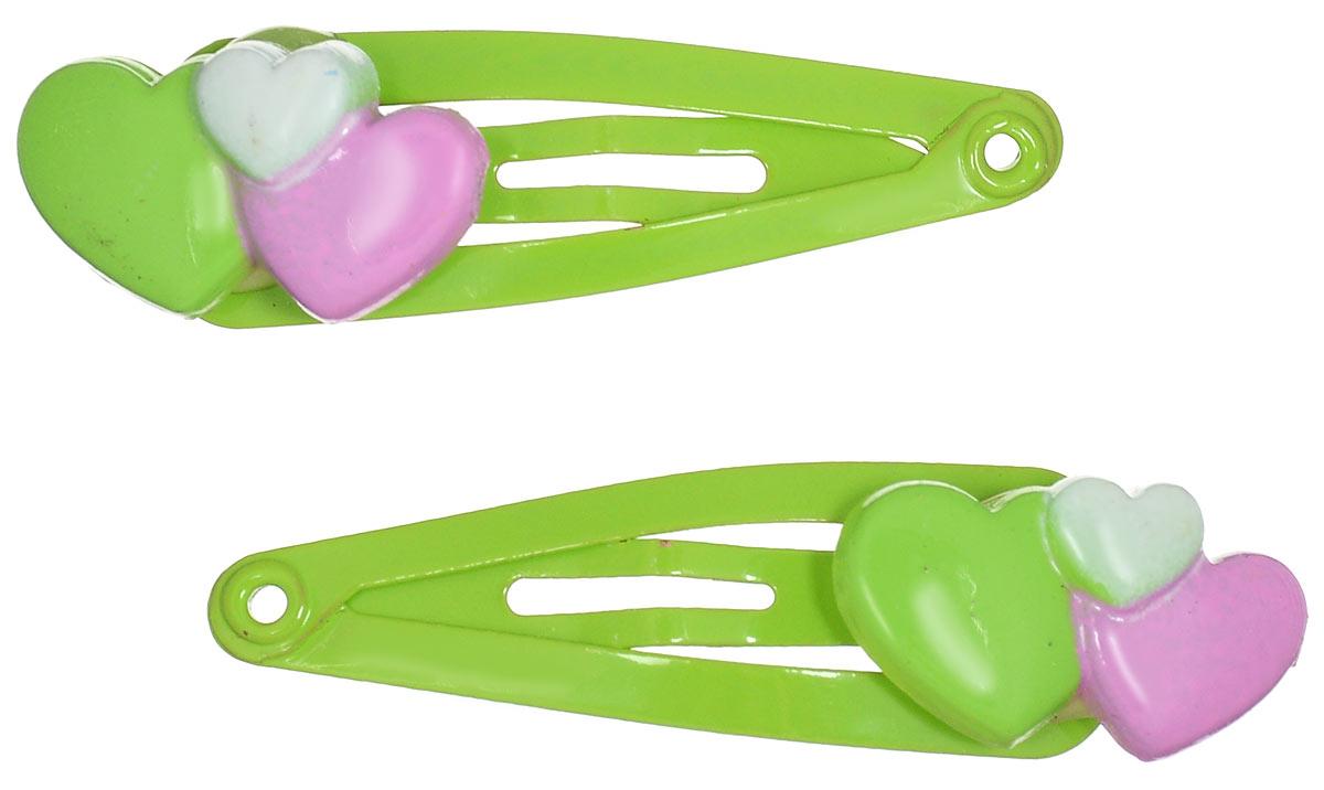 Зажим для волос Baby\'s Joy, цвет: зеленый, розовый. VT 246 ( VT 246 )