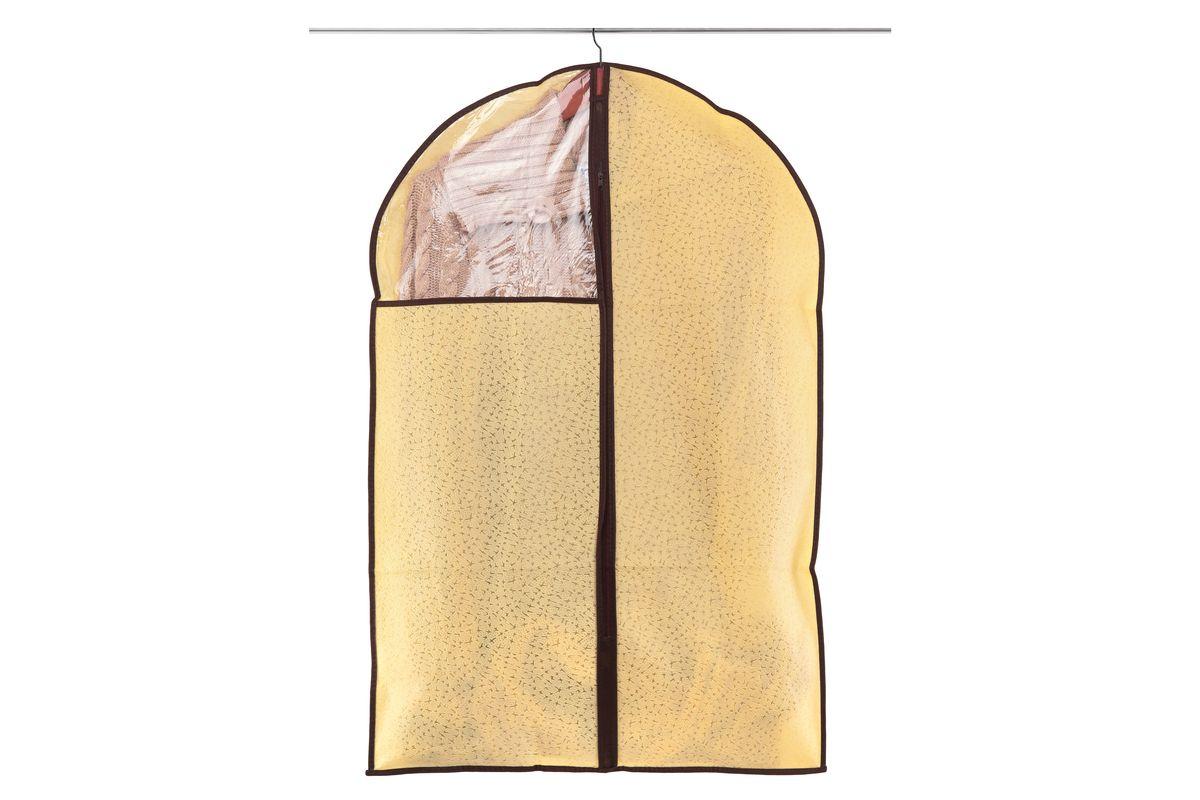 Чехол для одежды El Casa Звезды, подвесной, цвет: светло-бежевый, 60 см х 90 см370095Чехол для одежды El Casa Звезды, изготовленный из высококачественного нетканого материала, защитит вашу одежду от пыли и других загрязнений, а также поможет надолго сохранить ее безупречный вид. Благодаря особой фактуре чехол не пропускает пыль, но в то же время позволяет воздуху свободно проникать внутрь, обеспечивая естественную вентиляцию. Материал легок и удобен, не образует складок. Чехол снабжен прозрачной вставкой из ПВХ, что позволяет легко просматривать содержимое. Оригинальный дизайн сделает вашу гардеробную красивой и невероятно стильной.