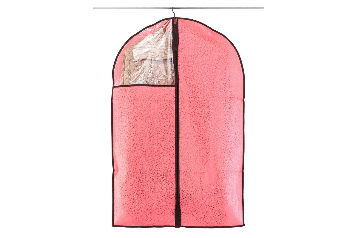 Чехол для одежды El Casa Звезды, подвесной, цвет: розовый, 60 х 90 см370096Чехол для одежды El Casa Звезды, изготовленный из высококачественного нетканого материала, защитит вашу одежду от пыли и других загрязнений, а также поможет надолго сохранить ее безупречный вид. Благодаря особой фактуре чехол не пропускает пыль, но в то же время позволяет воздуху свободно проникать внутрь, обеспечивая естественную вентиляцию. Материал легок и удобен, не образует складок. Чехол снабжен прозрачной вставкой из ПВХ, что позволяет легко просматривать содержимое. Оригинальный дизайн сделает вашу гардеробную красивой и невероятно стильной.