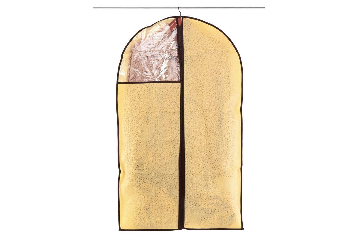Чехол для одежды El Casa Звезды, подвесной, цвет: бежевый, 60 см х 100 см370103Подвесной чехол для одежды El Casa Звезды изготовлен из высококачественного нетканого материала, который обеспечивает естественную вентиляцию, позволяя воздуху проникать внутрь, но не пропускает пыль. Чехол очень удобен в использовании, а благодаря его форме, одежда не мнется даже при длительном хранении. Специальная прозрачная вставка позволяет видеть содержимое внутри чехла, не открывая его. Изделие легко открывается и закрывается застежкой-молнией. Чехол для одежды будет очень полезен при транспортировке вещей на близкие и дальние расстояния, при длительном хранении сезонной одежды, а также при ежедневном хранении вещей из деликатных тканей.