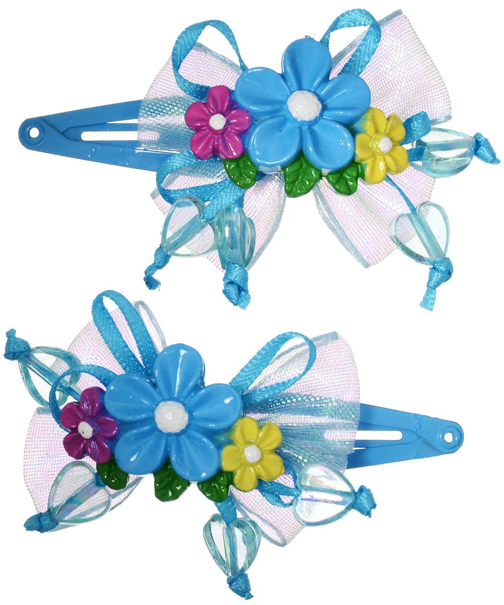 Зажим для волос Baby's Joy, цвет: голубой, 2 шт. AL 966