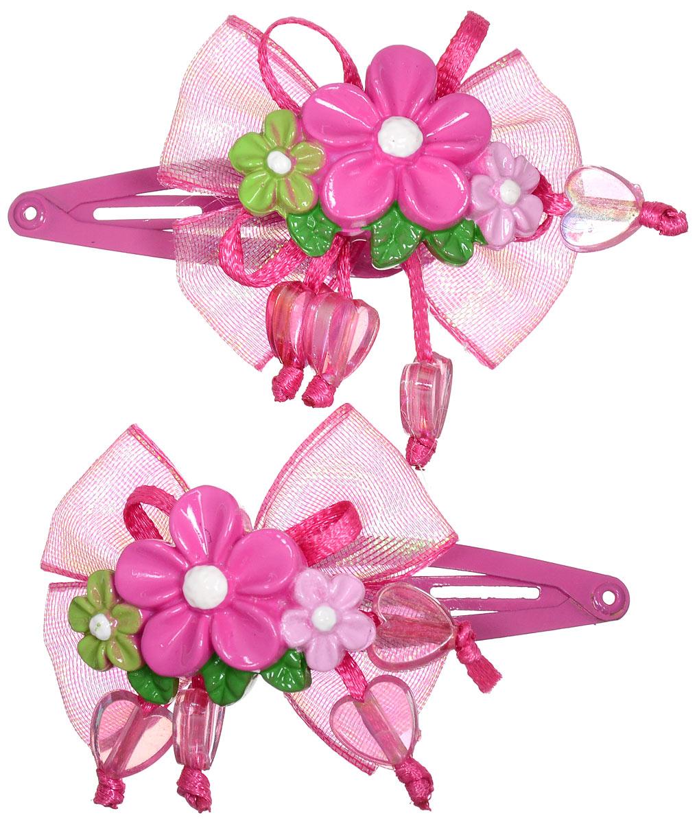 Зажим для волос Baby's Joy, цвет: малиновый, 2 шт. AL 966