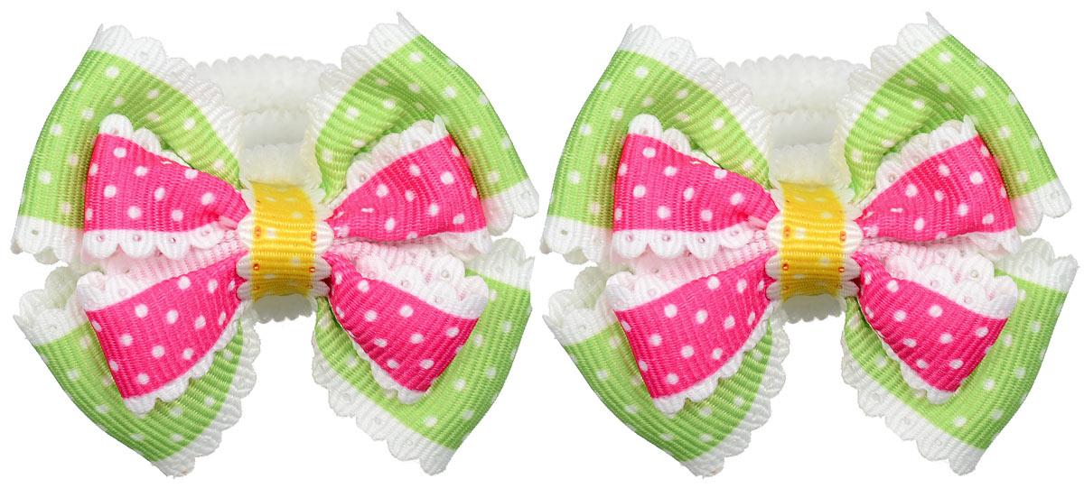 Резинка для волос Babys Joy, цвет: малиновый, зеленый, 2 шт. MN 13MN 13_малиновый/зеленыйРезинка для волос Babys Joy выполнена в форме банта-бабочки из текстиля и дополнена милым бантиком, который оформлен принтом горох. Резинка для волос Babys Joy надежно зафиксирует волосы и подчеркнет красоту прически вашей маленькой модницы.