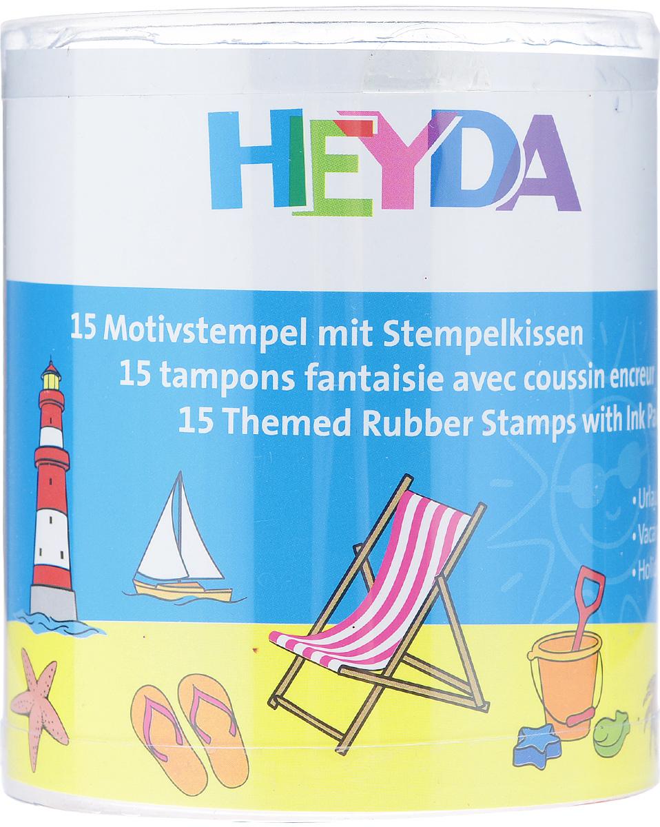 Набор декоративных штампов Heyda Holiday, 15 шт