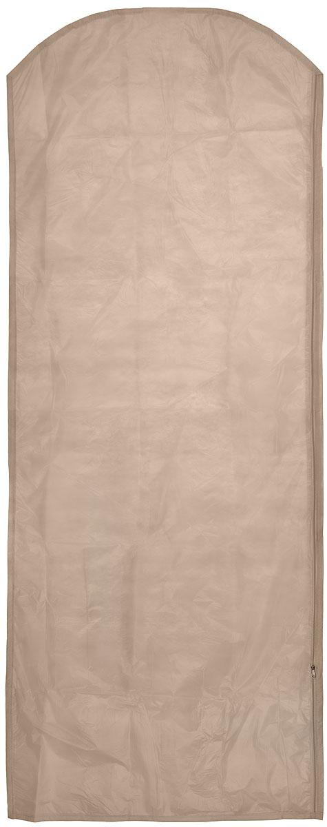 Чехол для одежды Eva, цвет: бежевый, 65 х 150 смЕ171_бежевыйЧехол для одежды Eva изготовлен из высококачественного полипропилена и полиэтилена. Особое строение полотна создает естественную вентиляцию: материал дышит и позволяет воздуху свободно проникать внутрь чехла, не пропуская пыль. Благодаря форме чехла, одежда не мнется даже при длительном хранении. Застегивается на молнию. Чехол для одежды будет очень полезен при транспортировке вещей на близкие и дальние расстояния, при длительном хранении сезонной одежды, а также при ежедневном хранении вещей из деликатных тканей. Чехол для одежды не только защитит ваши вещи от пыли и влаги, но и поможет доставить одежду на любое мероприятие в идеальном состоянии.
