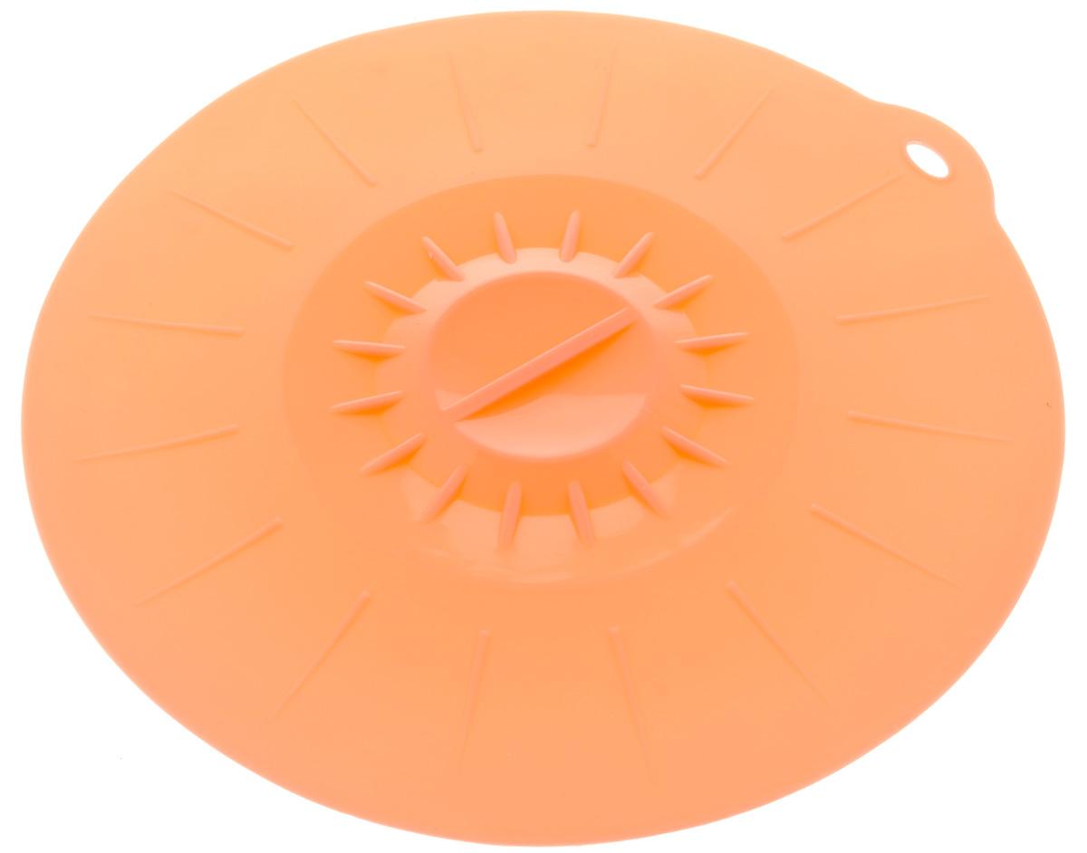Крышка вакуумная Идея, силиконовая, цвет: персиковый. Диаметр 26 смKRY-26_персиковыйВакуумная крышка Идея, выполненная из пищевого силикона, предназначена для герметичного закрытия любой посуды. Крышка плотно прилегает к краям емкости, ограничивая доступ воздуха внутрь, благодаря этому ваши продукты останутся свежими гораздо дольше. Основные свойства: - выдерживает температуру от -40°С до +240°С, - невозможно разбить, - легко моется, - не деформируется при хранении в свернутом виде, - имеет долгий срок службы, сохраняя свой первоначальный вид, - не выделяет вредных веществ при нагревании или охлаждении, - не впитывает запахи, - не вступает в химическую реакцию с продуктами, - безопасна при использовании в микроволновой печи, в духовке и морозильной камере. Такая крышка станет незаменимым помощником на вашей кухне.