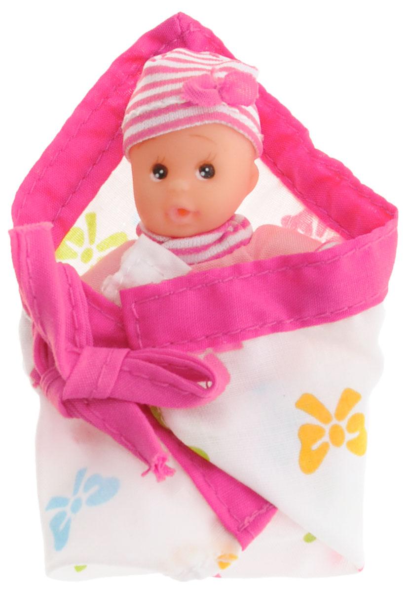 Simba Пупс Simba New Born Laura розовый5016668_розовыйПупс Simba New Born Laura непременно приведет в восторг вашу дочурку. Голова пупса выполнена из прочного пластика, а тело - мягконабивное. Очаровательный малыш одет в розовый комбинезон с изображением бабочки, на голове у него - шапочка в полоску. В комплект входит конверт для малыша на завязках. Игры с куклами способствуют эмоциональному развитию, помогают формировать воображение и художественный вкус, а также разовьют у вашей малышки чувство ответственности и заботы. Великолепное качество исполнения делают эту куколку чудесным подарком к любому празднику.