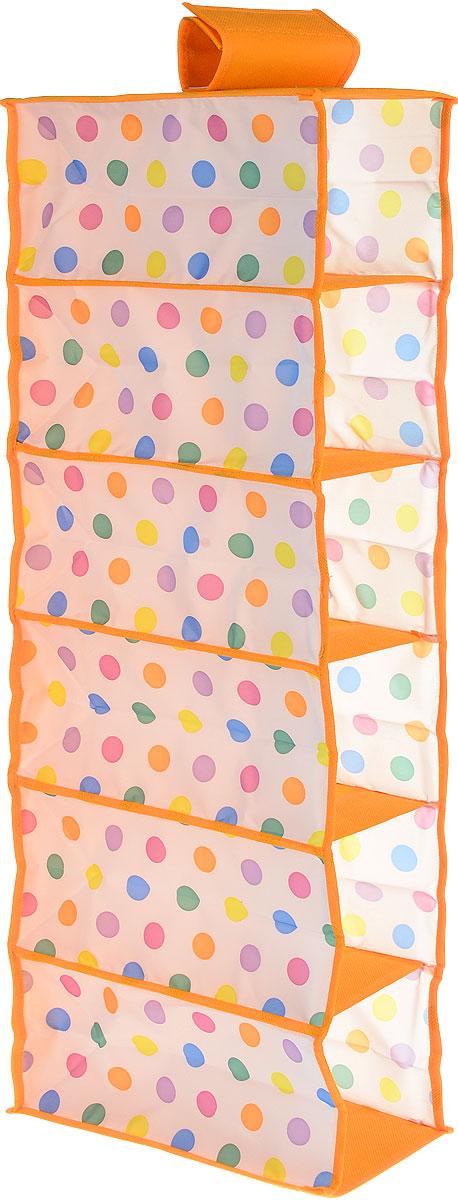 "Чехол подвесной Cosatto ""Кидс"", цвет: оранжевый, белый, 15 см х 30 см х 84 см"