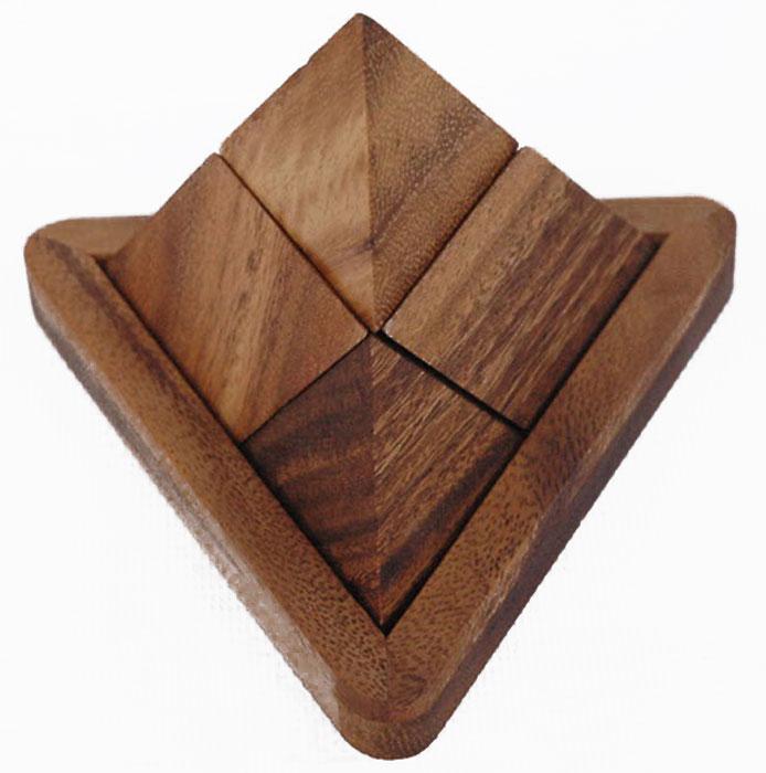 Dilemma Головоломка Пирамида IQ515IQ515Головоломка Dilemma Пирамида, выполненная из дерева, станет отличным подарком всем любителям головоломок! Пазл состоит из 4 одинаковых деревянных деталей. Попробуйте собрать пирамиду. Слишком сложно? Воспользуйтесь подсказкой из предложенного решения. Игра рассчитана на одного игрока. Головоломка Dilemma Пирамида стимулирует логику, пространственное мышление и мелкую моторику рук.