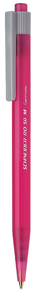 Schneider Ручка шариковая RO50 цвет чернил синийS305-01/0_розовыйАвтоматическая шариковая ручка Schneider RO50 станет незаменимыми атрибутом учебы или работы. Корпус ручки выполнен из полупрозрачного пластика. Высококачественные светоустойчивые и водостойкие синие чернила позволяют добиться идеальной плавности письма. Ручка имеет практичный пластиковый клип для удобной фиксации на бумаге или одежде. Надежная ручка строгого классического дизайна станет верным помощником для студента и офисного работника