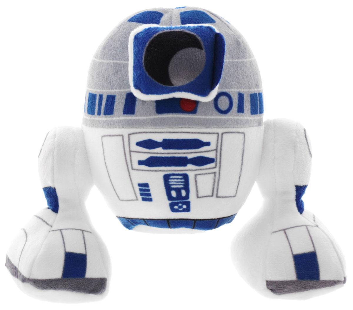 Disney Мягкая игрушка Р2-Д2 цвет белый синий 16 см1400611Мягкая игрушка Disney Р2-Д2 порадует любого поклонника грандиозной космической саги Звездные войны. Игрушка изготовлена из текстиля высокого качества, подробно детализирована, не имеет пластмассовых деталей, что делает ее безопасной даже для самых юных фанатов. Р2-Д2 - это всем известный неунывающий робот, который помогает главным героям саги Звездные Войны на всем ее протяжении. Преданность своим друзьям, отличные навыки по ремонту космических кораблей и взаимодействию с компьютерами делают его незаменимым спутником в опасных приключениях по галактике. С такой мягкой игрушкой ребенку будет приятно играть, так как она очень мягкая на ощупь. Благодаря ее компактному размеру ребенок всегда сможет взять полюбившегося робота с собой в дорогу или в любое другое место.