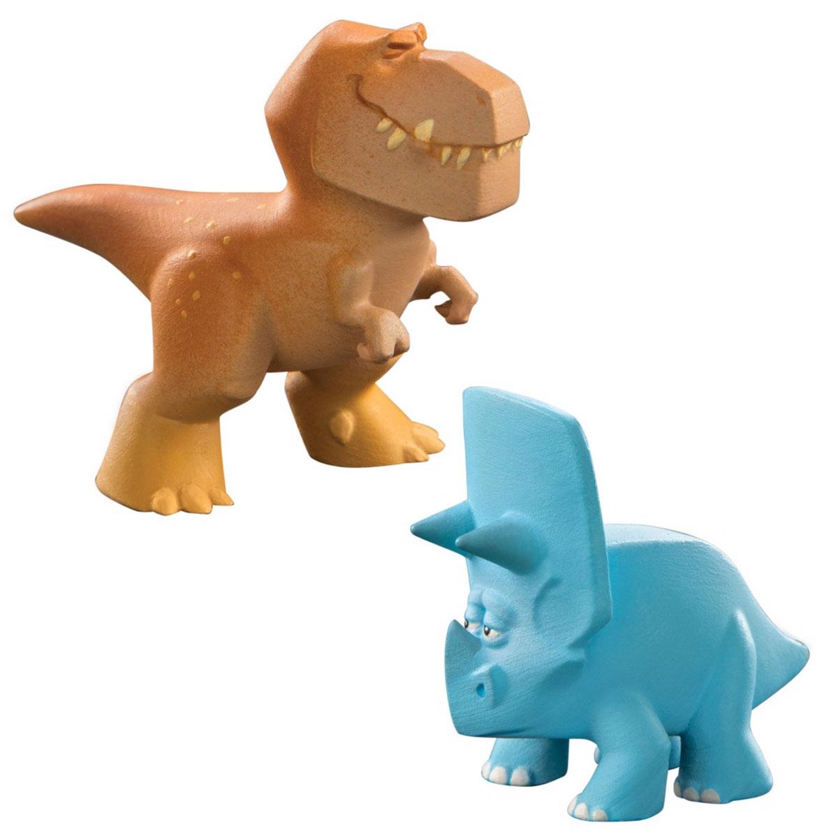 Хороший динозавр Набор фигурок Бур и Уилл62302В наборе фигурок Хороший динозавр представлены персонажи мультфильма Хороший динозавр Бур и Уилл. Фигурки яркие и симпатичные, в точности похожи на анимационных героев. Тираннозавр Бур - очень серьезный динозавр, он разводит длиннорогих быков-бизодонов и пасет их, оберегая от жадных налетчиков в лице рапторов. Трицератопс Уилл - тоже взрослый и уважаемый член общества ящеров, в мультфильме он является одним из второстепенных персонажей. Соберите всех героев из серии мини-фигурок, чтобы игровой процесс стал еще интереснее (все наборы продаются отдельно). Фигурки изготовлены из высококачественных нетоксичных материалов, абсолютно безопасных для вашего малыша. Ваш ребенок часами будет играть с такой игрушкой, придумывая различные истории.