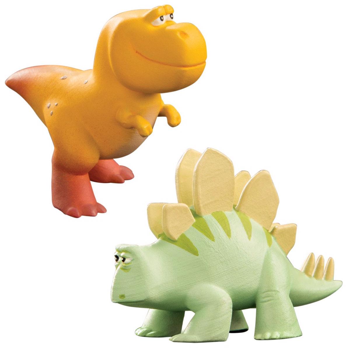Хороший динозавр Набор фигурок Нэш и Мэри Элис62303Набор фигурок Хороший динозавр включает тираннозавра Нэша и стегозавра Мэри Элис. Игрушки имеют очень милый дизайн: оба динозаврика пухленькие симпатяги, один в один похожие на своих героев из мультфильма. Выполнены из высококачественных нетоксичных материалов, абсолютно безопасных для вашего малыша. Нэш помогает своему отцу Бучу и сестре Рэмси разводить и пасти длиннорогих быков-бизодонов. Мэри Элис - один из смешных второстепенных персонажей фильма. Фигурки прекрасно детализированы и приближены к своему персонажу в мультике, что, несомненно, делает игру с такой игрушкой наиболее интересной и увлекательной.