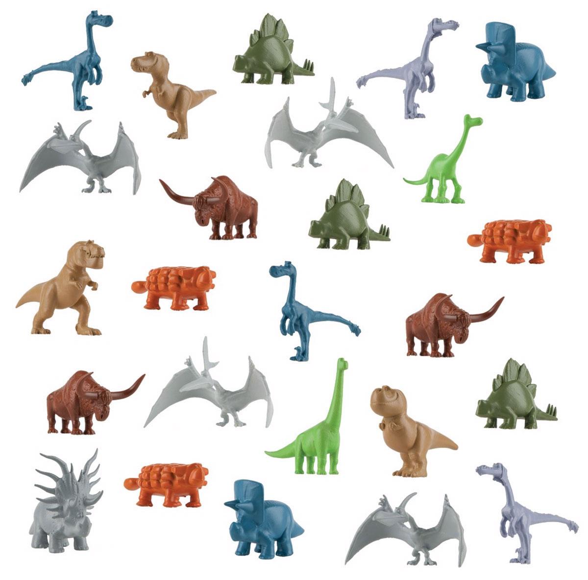 Хороший динозавр Набор фигурок 25 шт62321Набор фигурок Хороший динозавр включает 25 фигурок, среди которых присутствуют все ключевые персонажи известного мультфильма. Изделия выполнены из абсолютно безопасного материала. В комплекте тираннозавры, рапторы, птерозавры, трицератопсы, анкилозавры, апатозавры и даже длиннорогие быки. С набором маленьких динозавриков ребенок сможет фантазировать, творить и придумывать истории. Разыграйте сцены из фильма, создайте свой собственный мир динозавров! Ваш ребенок будет часами играть с такой игрушкой.