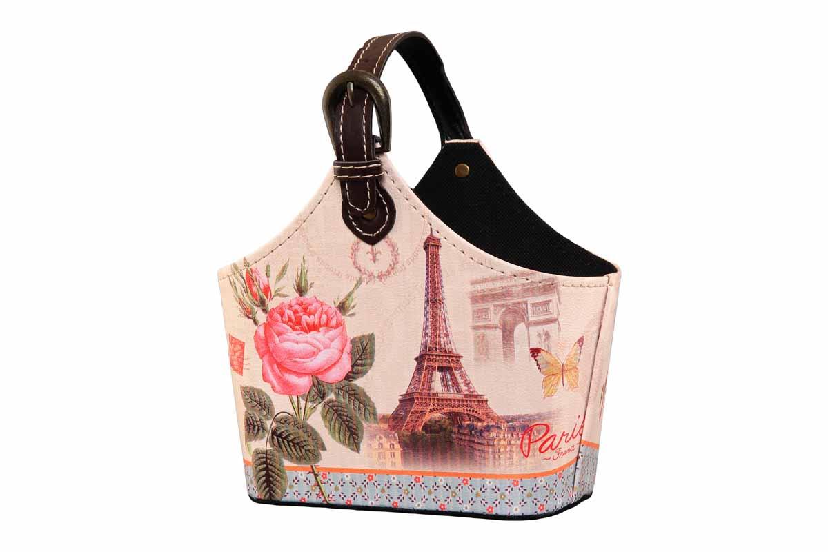 Сумка для хранения El Casa Эйфелева башня, 22 х 12 х 19 см171249Интерьерная сумка El Casa Эйфелева башня, выполненная из МДФ, искусственной кожи и текстиля, понравится всем ценителям оригинальных вещей. Благодаря регулируемой длине ручки, прекрасному дизайну и необычной форме, такая сумка будет отлично смотреться в вашей гостиной или коридоре. В ней можно хранить всевозможные мелочи: расчески, заколки, журналы или газеты. Сумка El Casa Эйфелева башня станет отличным подарком для ваших друзей и близких. Размер сумки (без учета ручки): 22 см х 12 см х 19 см.